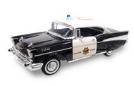 Road Legends  1/18 1957 Chevrolet Bel Air Police Car (Black) RLG2107BLK