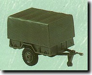 Herpa Minitanks/Roco  1/87 1 1/2-Ton Canvas Covered Jeep Trailers: 1 each of M101-A1 & M105-A2 HER462