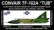 Convair TF-102A Delta Dagger Late (USAF Japan 1970) conversion #RVHC7240