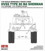 M4 Sherman HVSS Type 80 Workable Track Links Set #RFM5034