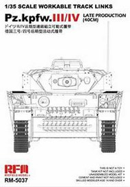 Workable Track Links for Pz.III/IV Late Production (40cm) (DEC) #RFM5037