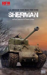 M4A3 76W Sherman HVSS w/ Full Interior and Workable Track Links #RFM5042