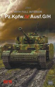 German Pz.Kpfw.IV Ausf G/H Tank w/Full Interior & workable Track Links (2 in 1) #RFM5055