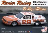 Rainier Racing Bobby Allison #28 Chevrolet Monte Carlo 1981 Race Car #SJM19810