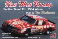 Blue Max Racing Tim Richmond Pontiac Grand Prix 1984 Winner Race Car #SJM19840