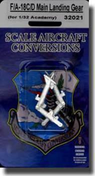 Scale Aircraft Conversion  1/32 F/A-18C/D Hornet Main Gear (Aca/Kin) SCV32021