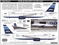 Scaleliners  1/200 Airbus A320 JET BLUE with three tone blue fin. N503JB/508/517/524 . FPSL225