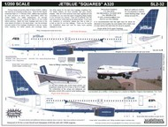 Scaleliners  1/200 Airbus A320 JET BLUE N542JB Squares on fin FPSL232