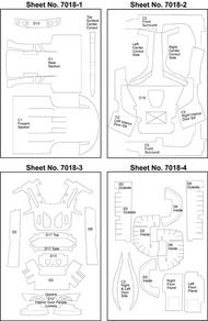 Scale Motorsport  1/24 Porsche Carera GT Template Comp. Fiber SMO7018