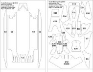 Scale Motorsport  1/20 Ferrari F60 F1 Template Comp. Fiber Decal Set For TAM SMO7060