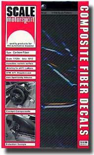 Scale Motorsport  1/12 '80 Carbon Fiber Decals/Pewter SMO1012