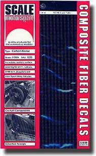 Scale Motorsport  1/20 '80 Carbon Fiber Decals/Ambr SMO1220