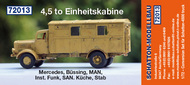 Mercedes MB L-4500 Einheitskabine resin cabin with clear parts and ladder #SCH72013