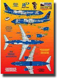 Skyline Models  1/200 Boeing 737 Western Pacific Thrifty SKY20032