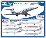 Small Stuff Models  1/144 Tu-134UBL Conversion (ZVE) with Decals/Masks SST44104