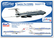 Small Stuff Models  1/144 Tu-134SKh Conversion (ZVE) with Decals/Masks SST44107