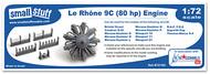 Small Stuff Models  1/72 Le Rhone 9C (80 hp) (37 parts!) SST72102