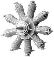 Small Stuff Models  1/72 Oberursel U.I (100 hp) Engine (38 parts) SST72105