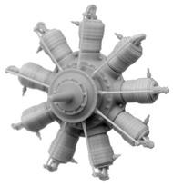 Small Stuff Models  1/72 Gnome Monosoupape 9B-2 (100 hp) (38 Parts) SST72109