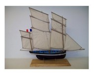 SOCLAINE WOOD SHIP MODEL KITS  1/50 Petrel 3-Masted 1908 Cancale Fishing Smack Boat SLW1010