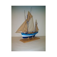 SOCLAINE WOOD SHIP MODEL KITS  1/50 Saint Gildas 4-Masted 1908 Isle of Groix Tuna Fishing Boat SLW1020