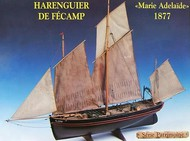 SOCLAINE WOOD SHIP MODEL KITS  1/50 Fecamp 3-Masted 1877 Herring Fishing Trawler Boat SLW1400