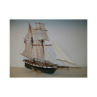 SOCLAINE WOOD SHIP MODEL KITS  1/50 Recouvrance 2-Masted 1817 Tri-Sail Frigate Ship SLW1600