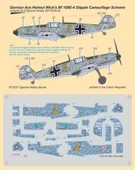 German Ace H. Wick's Messerschmitt Bf.109E-4 Stipple Camouflage Scheme* #SHYK72031