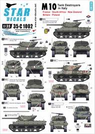 Star Decals  1/35 M10 Tank Destroyer in Italy - France, UK, SADF, NZ, Poland 35-C1002