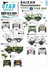 Star Decals  1/35 Balkan Peacekeepers #4. France, UN and IFOR. VAB 4x4 35-C1005