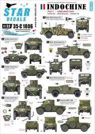 Star Decals  1/35 Indochine #1. Armoured Cars. White Scout, Humber SC, Panhard 178 35-C1006