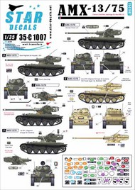Star Decals  1/35 AMX-13/75. French Cold War markings + Suez-crisis 1956 35-C1007
