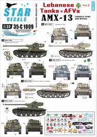 Star Decals  1/35 Lebanese Tanks & AFVs #2. AMX-13. Lebanese Army and militias 35-C1009