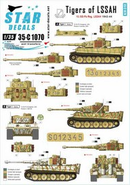 Star Decals  1/35 Generic numbers and insignias for 1943-44 (incl. Kursk). Pz.Kpfw.VI Tigers of LSSAH. 13./SS-Pz-Regiment LSSAH. 35-C1070