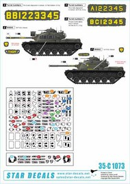 Star Decals  1/35 U.S. Marines in Vietnam. M48A3 Early model. 1st, 3rd, and 5th Tank Battalion. 35-C1073