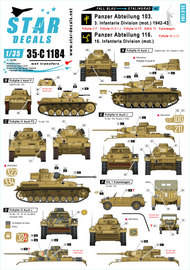 Fall Blau and Stalingrad # 2. Pz-Abt. 103 / 3. Infanterie Division (mot.) and Pz-Abt. 116 / 16. #SRD35C1184
