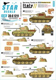 German tanks in Italy # 11. Panther A & G #35-C1211