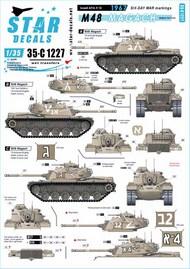 Israeli AFVs # 10. M48 Magach.1967 Six-day war markings. 35-C1227