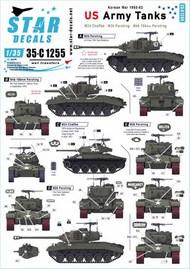 US Army Tanks in Korea.M24 Chaffee, M26 Pershing and M45 105mm Pershing in Korea 1950-53. #35-C1255