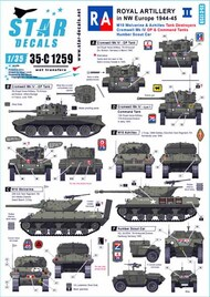 Royal Artillery in NW Europe 1944-45 Part 2 M10 Achilles Cromwell Mk.IV Humber Scout Car #SRD35C1259