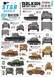 Star Decals  1/35 Balkan WWII # 1 SRD35C1270