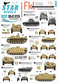 Star Decals  1/35 German Funklenk tanks # 4 SRD35C1275