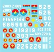 Star Decals  1/35 Vietnam # 5. NVA North Vietnamese Tanks and AFVs markings 35-C1277