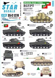 Star Decals  1/35 Middle East in the 1950s Egypt Shermans and T-34 tank markings SRD35C1278