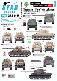Star Decals  1/35 Middle East in the 1950s Egypt Shermans and T-34 tank markings SRD35C1279