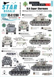 Star Decals  1/35 Lebanese Tanks & AFVs # 10 SRD35C1280