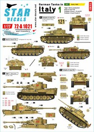 German tanks in Italy # 1. Sicilly 1943.Tiger I Early prod. #72-A1021