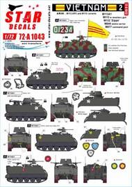Vietnam 2. M113A1, M113 w recoilless gun, M132 Zippo, M548 ammo carrier #72-A1043