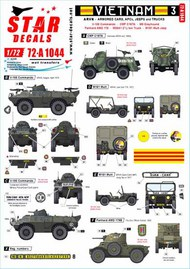 Vietnam ARVN # 3. V-100 Commando, Greyhound and other AFVs in South Vietnam army. #72-A1044