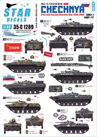 War in Caucasus Part 3: 1st and 2nd Chechen War 1994-2009 Soviet BMD-1 and BMP-1P #SRD35C1289